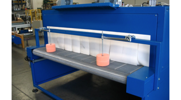 Packaging machines for glass and rear window