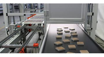 Mosaic tiles with Fast Mover pass automatically by cutting the bonding trays