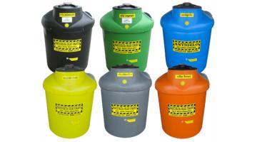 Contenitori in polietilene per rifiuti pericolosi