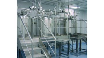Sala preparazioni per industria farmaceutica