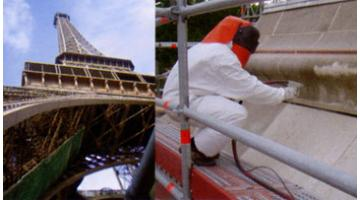 Sabbiatrici per pulitura Torre Eiffel