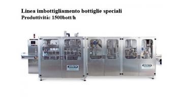 Linea imbottigliamento bottiglie speciali