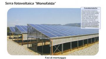 Serra fotovoltaica monofalda