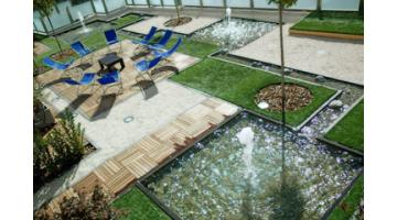 Synthetic grass for gardens