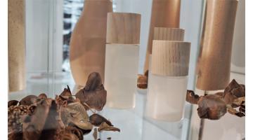 Confezioni per cosmetici effetto legno