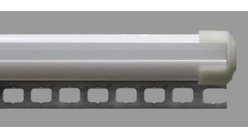Barra cilindrica con profli forati per esposizione locandine