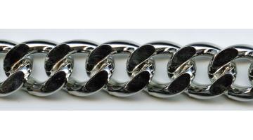 Catena groumette in alluminio per abbigliamento e accessori