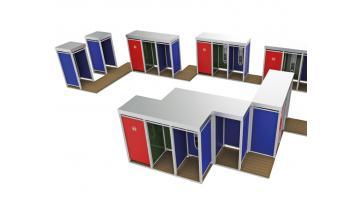 Cabina doccia modulare per stabilimenti balneari