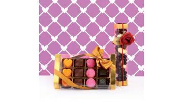 Contenitore trasparente per cioccolato e praline