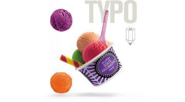 Coppetta per gelateria con grafica personalizzata