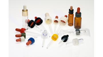 Contagocce per flaconi in vetro e in plastica
