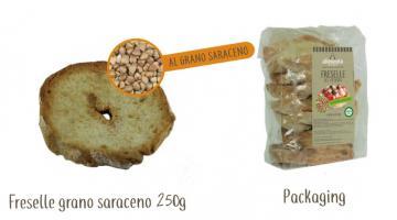 Friselle confezionate al grano saraceno senza glutine
