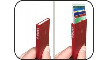 Custodia porta carte di credito in metallo