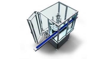 Riempitrice tappatrice rotativa compatta per liquidi