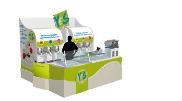 Distributore frappe, yogurt e sorbetti