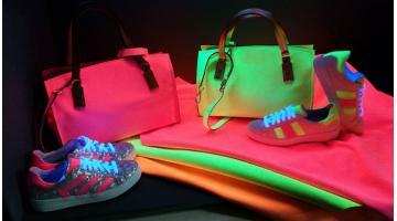 Pellami con colorazione effetto fluorescente