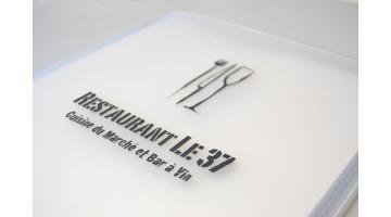 Portamenu personalizzato con serigrafia