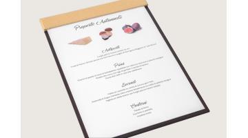 Tavolette menu stagionale