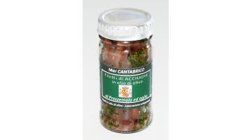 Filetti di acciughe in vetro al prezzemolo e aglio
