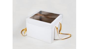 Большая коробка для панеттоне с прозрачной крышкой
