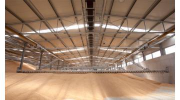 Silos orizzontali per lo stoccaggio dei cereali