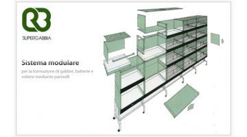 Sistema modulare per gabbie e voliere