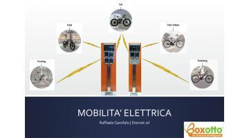 Electric bike charging columns