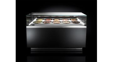 Vetrina per gelateria a vista
