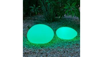 Luminous lamp in the shape of a stone