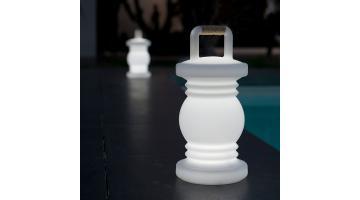 White LED polyethylene lamp