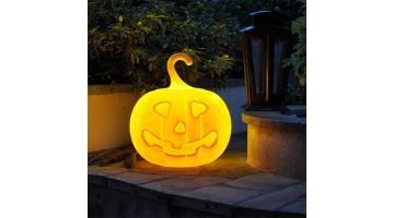 Decorative pumpkin shaped lamp