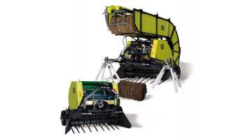 Round baler for pruning and pruning