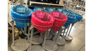 система непрерывных мешков для переработки