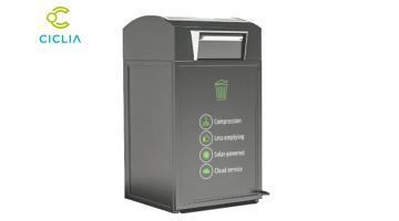 Smart bin: уплотнитель отходов солнечной энергии