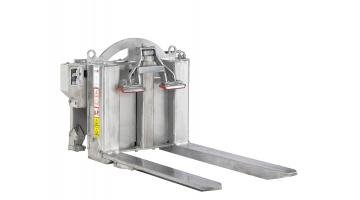 Rovesciatore di bins in acciaio inox