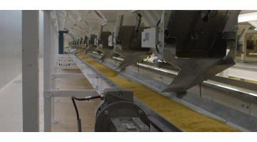 Trasportatori a catena per materiali fragili