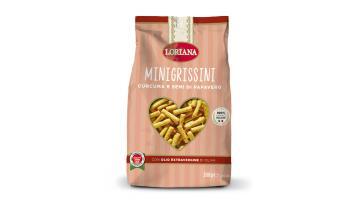 Minigrissini curcuma e semi di papavero formato 200g