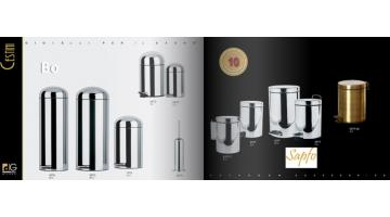 Bathroom accessories in steel for hotels