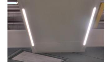 Sistema led per camere bianche