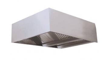 Cappa di aspirazione centrale cubica in acciaio inox