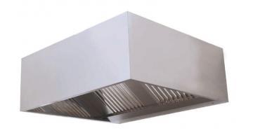 Cappa di aspirazione a parete cubica in acciaio inox
