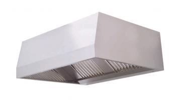 Cappa di aspirazione a parete in acciaio inox