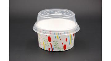 Coppetta gelato con coperchio e paletta
