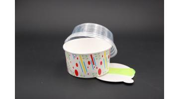 Coppetta gelato completa di coperchio e paletta
