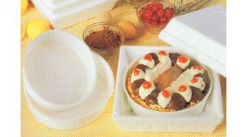 Contenitori impilabili per torte