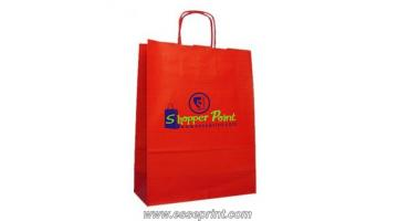 Shopper in carta fondo pieno
