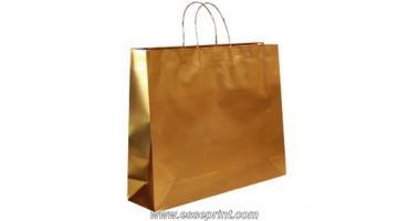 Shopper in carta kraft manico ritorto