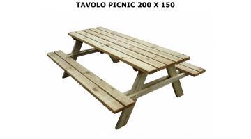 Tavolo da picnic 200x150
