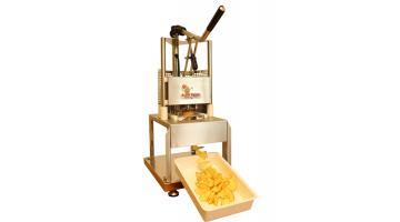Bench-type potato cutter
