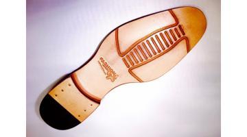 Suole in cuoio per calzature uomo con inserti